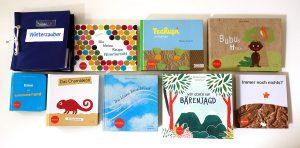 Buchcover von Kinderbüchern mit Braille
